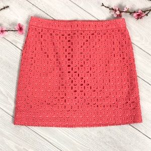 J Crew Exploded Eyelet Mini Skirt